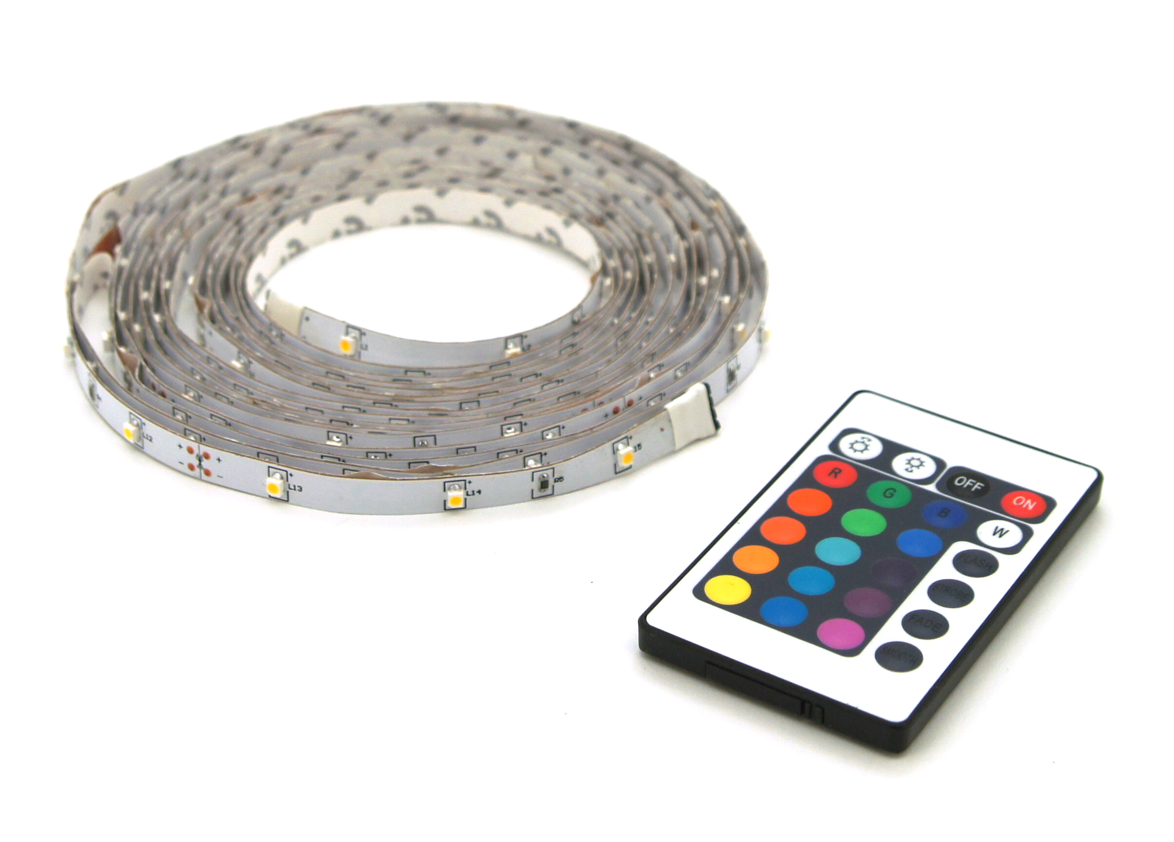 Multicolor LED strip lights IP20 5m + remote control