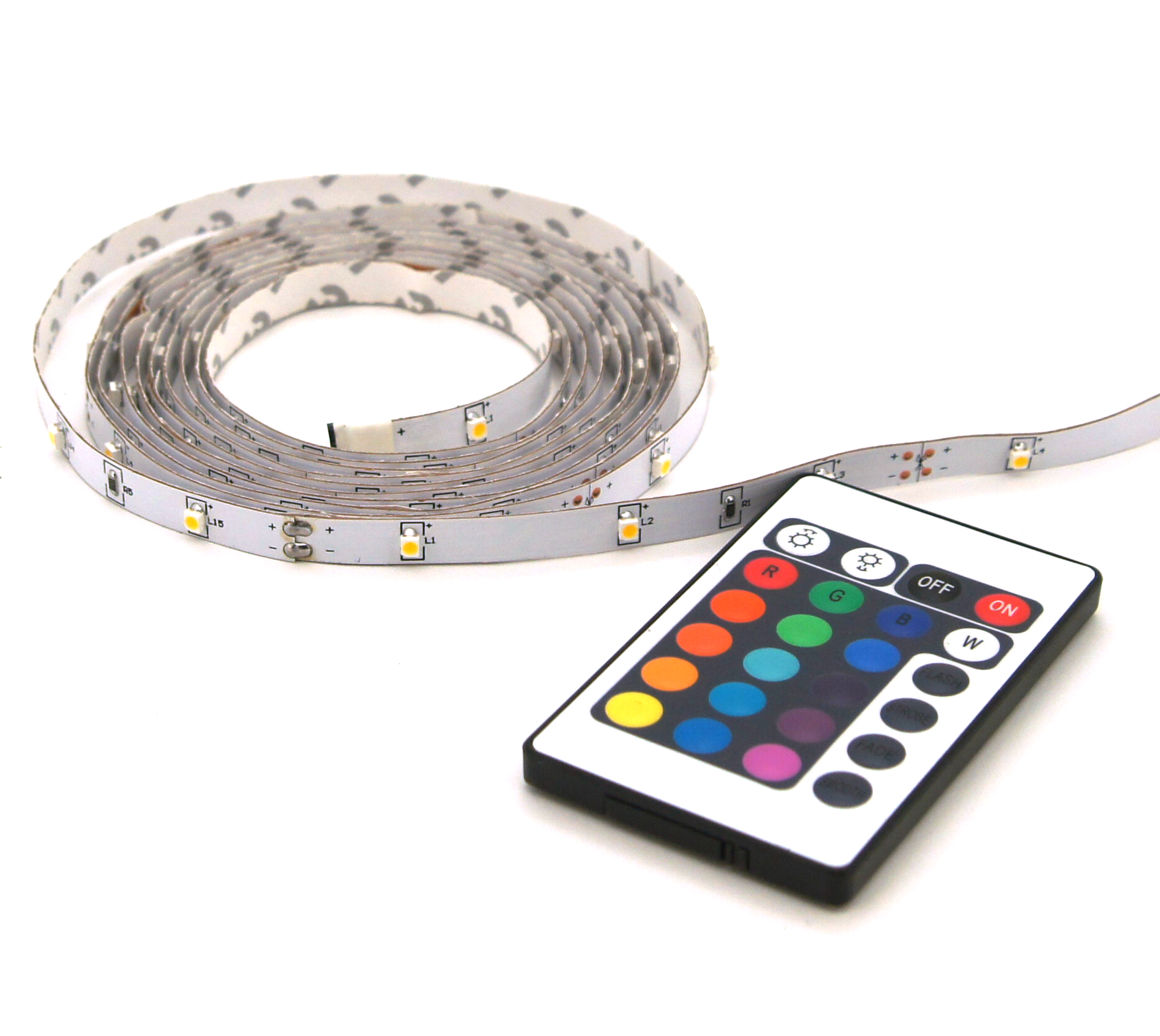 Multicolor LED strip lights IP20 2m + remote control